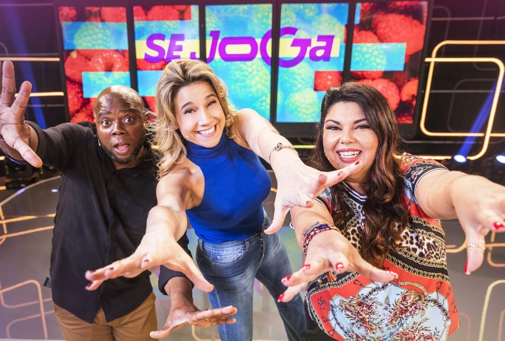 Érico Brás, Fernanda Gentil e Fabiana Karla são os apresentadores do Se Joga